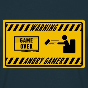 warning angry gamer, game over Tee shirts - T-shirt Homme