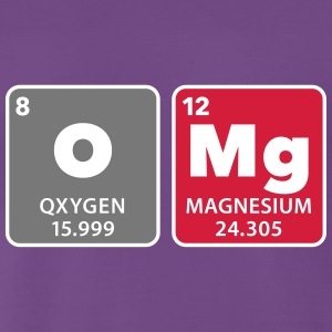 periodic table omg oxygen magnesium Oh mein Gott T-Shirts - Männer Premium T-Shirt