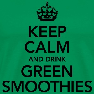 Keep Calm And Drink Green Smoothies T-skjorter - Premium T-skjorte for menn