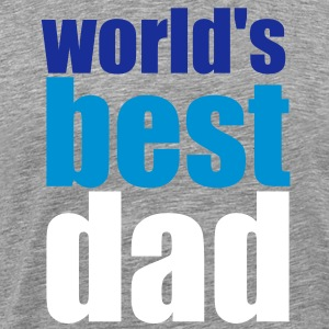 Grau meliert world's best dad T-Shirts - Männer Premium T-Shirt