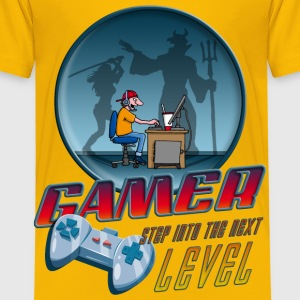 gamer_022016_devil T-Shirts - Kinder Premium T-Shirt