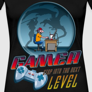 gamer_022016_dragon T-Shirts - Frauen Premium T-Shirt