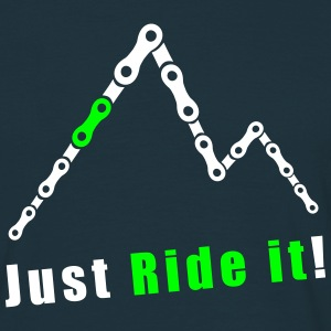 Berge Kette Just Ride it Freeride Downhill Enduro T-Shirts - Männer T-Shirt