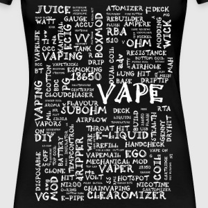 Vape T-shirt Words White Camisetas - Camiseta premium mujer