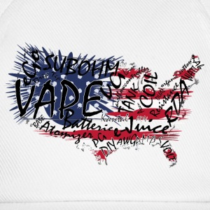 Vape T-shirt Words USA Czapki  - Czapka z daszkiem
