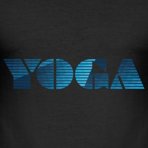Yoga Grafics - Männer Slim Fit T-Shirt