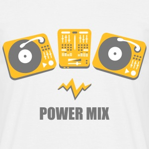 Turntables Power Mix DJ Mixer Plattenspieler DJane T-Shirts - Männer T-Shirt