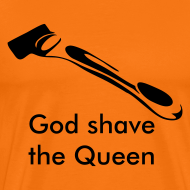 Ontwerp ~ God shave the Queen oranje shirt