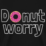 Ontwerp ~ Funny T-shirt Donut Worry