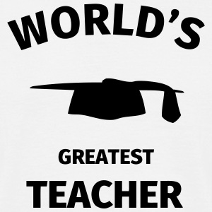 World's Greatest Teacher T-shirts - Herre-T-shirt