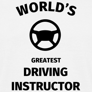 World's Greatest Driving Instructor T-shirts - Herre-T-shirt