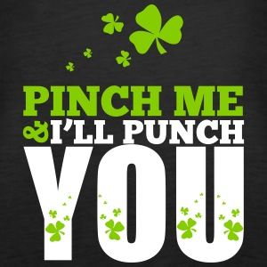St. Patrick's Day: Pich me i will punch you Tops - Women's Premium Tank Top