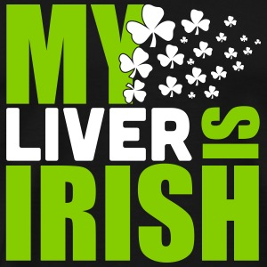 St. Patrick'S Day: MY LIVER IS IRISH Koszulki - Koszulka męska Premium