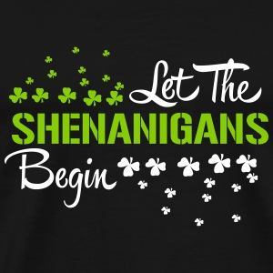 St. Patrick's Day: LET THE SHENANIGANS BEGIN T-shirts - Herre premium T-shirt