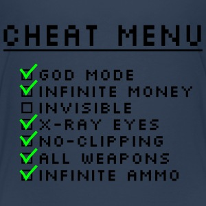 Gaming Cheat Menu Shirts - Teenage Premium T-Shirt