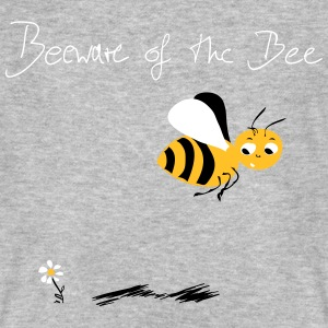 Biene! Beeware of the Bee T-Shirts - Männer Bio-T-Shirt