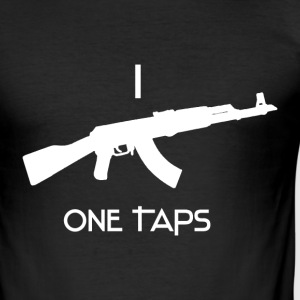 I LOVE ONE TAPS AK BLACK - Männer Slim Fit T-Shirt