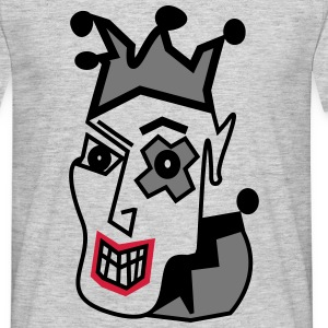 Crazy Jester in Greys - Men's T-Shirt