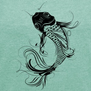 fanciful Koi T-Shirts - Women's T-shirt with rolled up sleeves