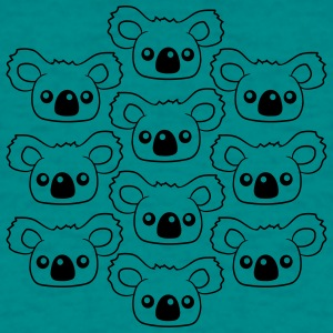 sweet little cute koala head face pattern design T-Shirts - Men's T-Shirt