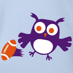 Baby Eule Owlet Kids American Football Player Baby Bodys - Baby Bio-Kurzarm-Body
