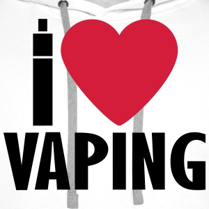 Vape shirt I Love Vaping Sweat-shirts - Sweat-shirt à capuche Premium pour hommes