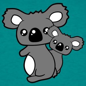 sweet little baby koala leuk mamapapa kind heeft f T-shirts - Mannen T-shirt