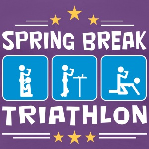 spring break triathlon T-Shirts - Frauen Premium T-Shirt