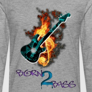 Born 2 Bass Guitar - Men's Premium Longsleeve Shirt