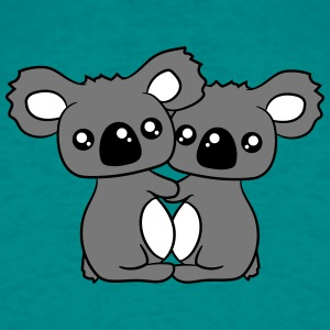2 sweet little cute koalas hold some love in love  T-Shirts - Men's T-Shirt
