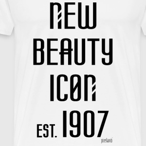 New beauty Icon est. 1907, Pixellamb ™ T-Shirts - Männer Premium T-Shirt
