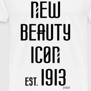 New beauty Icon est. 1913, Pixellamb ™ T-Shirts - Männer Premium T-Shirt