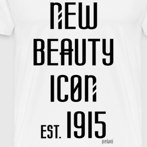 New beauty Icon est. 1915, Pixellamb ™ T-Shirts - Männer Premium T-Shirt