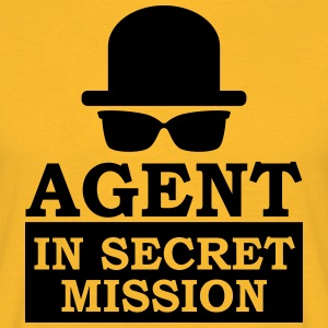 Agent in Secret Mission Melone Sonnenbrille 007 De - Männer T-Shirt