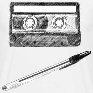 Cassette and Pen - Men's T-Shirt