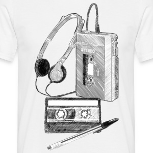 Walkman, Cassette and Pen - Men's T-Shirt