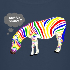 Rainbow Zebra Shirts - Teenage Premium T-Shirt