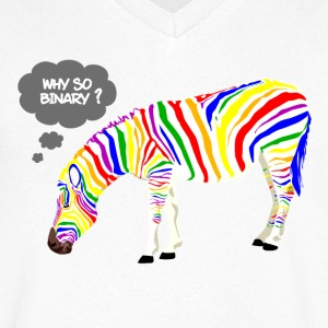 Rainbow Zebra T-Shirts - Men's V-Neck T-Shirt