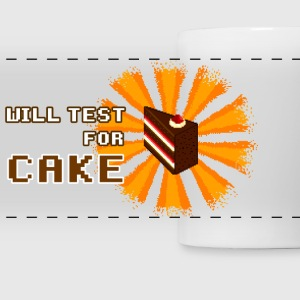 White will test for cake Mugs & Drinkware - Panoramic Mug