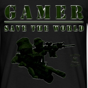 Gamer T-Shirt | Save the World | #spreadgaming - Männer T-Shirt