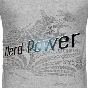 Nerd Power T-Shirts - Männer Slim Fit T-Shirt