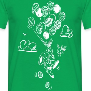 Easter Rabbit Rising High - Männer T-Shirt