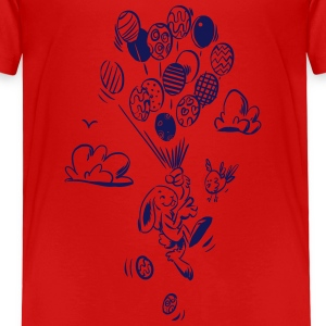 Osterhase Rising High - Kinder Premium T-Shirt