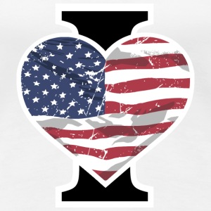 I Love USA T-Shirts - Frauen Premium T-Shirt