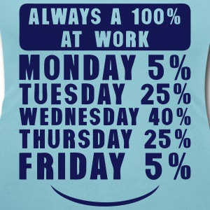 always a 100 at work monday tuesday  T-Shirts - Women's Scoop Neck T-Shirt