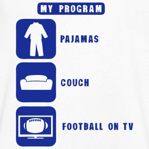 football tv program pajamas couch 2602 Tee shirts - T-shirt Homme col V