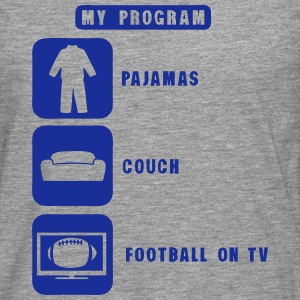 football tv program pajamas couch 2602 Manches longues - T-shirt manches longues Premium Homme