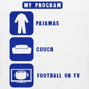 football tv program pajamas couch quote Sports wear - Men's Premium Tank Top