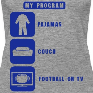 football tv program pajamas couch quote Tops - Women's Premium Tank Top