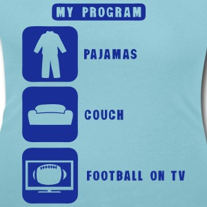 football tv program pajamas couch 2602 Camisetas - Camiseta con escote redondo mujer